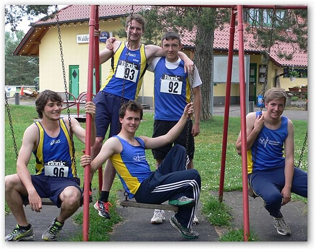 Athleten der TG Trossingen, v. l.: Simon Schmid, Michael Heider, Benjamin Welte, Fabian Bertsche, Lukas Kramer.